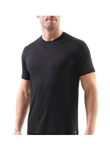 Blackspade Blackspade 9306 Yarım Kol Bısıklet Yaka Atlet  Siyah